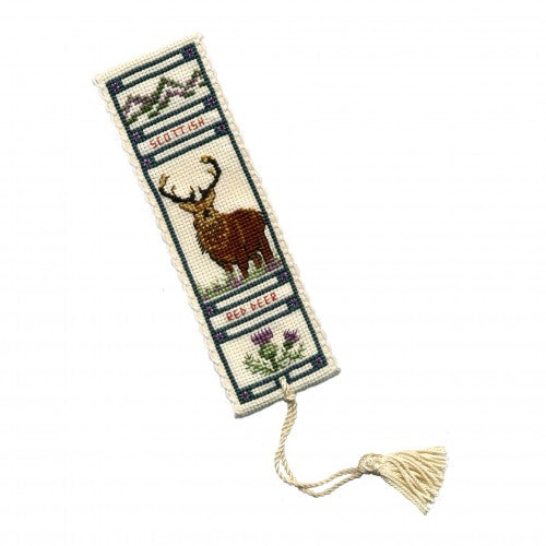 Textile Heritage Stag Bookmark Cross Stitch Kit