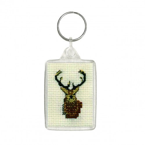 Textile Heritage Stag Keyring Cross Stitch Kit