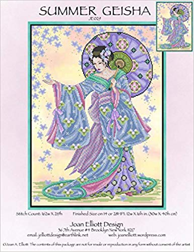 Joan Elliott Summer Geisha Cross Stitch Pattern