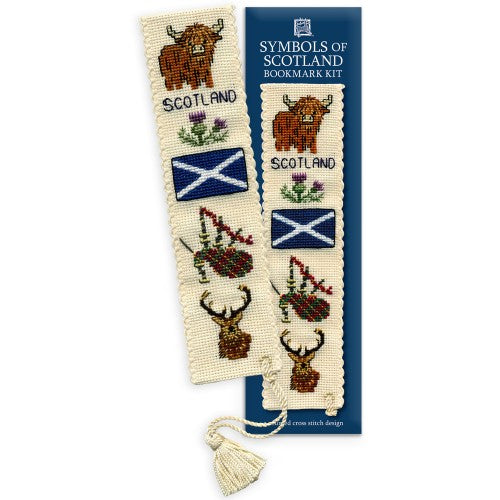 Textile Heritage Symbols of Scotland Bookmark Cross Stitch Kit