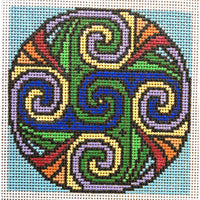 Synchronise Celtic Spiral Hand Painted Needlepoint Canvases