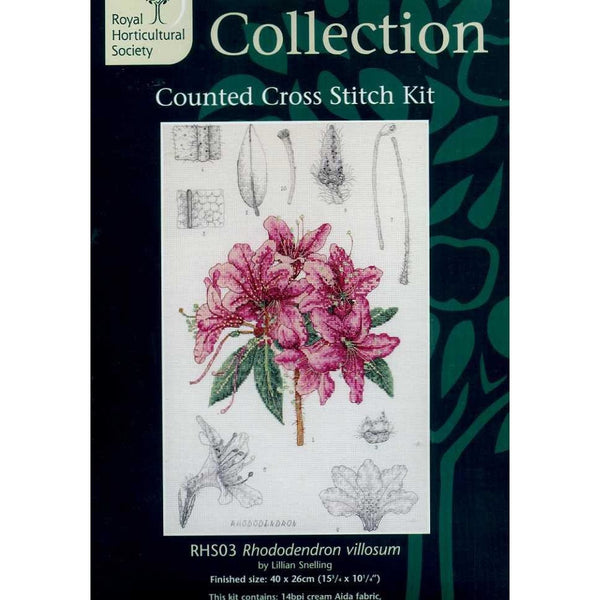 Coats Crafts Royal Horticultural Society Rhododendron Villosum Cross Stitch Kit