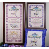 Sarah's Sampler Birth Carousel Cross Stitch Pattern