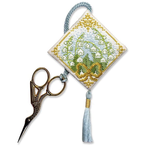 Textile Heritage Lily of the Valley Scissor Keep Cross Stitch Kit