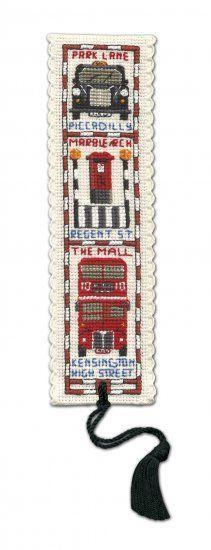 Textile Heritage Streets of London Bookmark Cross Stitch Kit