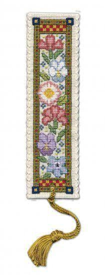 Textile Heritage Medieval Garden Bookmark Cross Stitch Kit