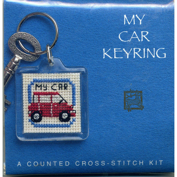 Textile Heritage My Car Keyring Cross Stitch Kit