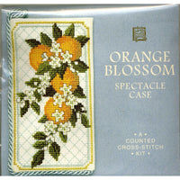 Textile Heritage Orange Blossom Spectacle Case Cross Stitch Kit