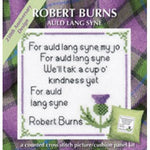 Textile Heritage Robert Burns Auld Lang Syne Cushion Panel Picture Cross stitch Kit