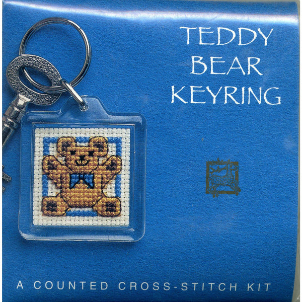 Textile Heritage Teddy Bear Keyring Cross Stitch Kit