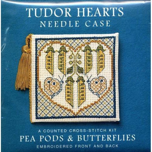 Textile Heritage Tudor Hearts Needle Case Cross Stitch Kit