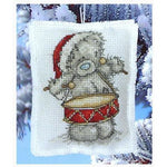 Tatty Teddy Drummer Boy Christmas Decoration Cross Stitch Kit