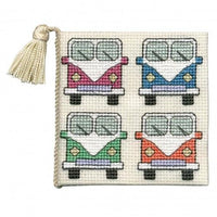 Textile Heritage Campervans Needle Case Cross Stitch Kit