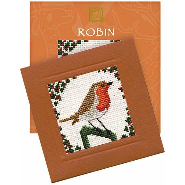 Textile Heritage Robin Miniature Card Cross Stitch Kit