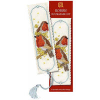 Textile Heritage Robins Bookmark Cross Stitch Kit