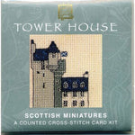 Textile Heritage Tower House Scotland Miniature Card Cross Stitch Kit