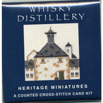 Textile Heritage Whisky Distillery Scotland Miniature Card Cross Stitch Kit