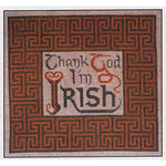 Thank God I'm Irish Cross Stitch Pattern