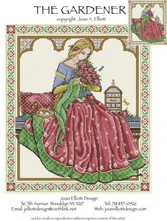 Joan Elliott The Gardener Cross Stitch Pattern