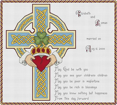 Artists Alley The Wedding Cross - Cross Stitch Pattern