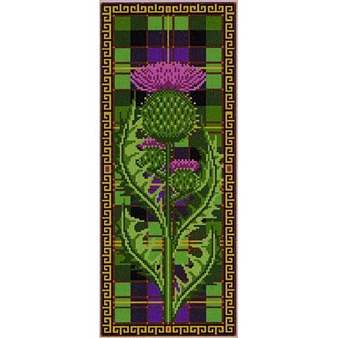 Long Thistle Cross Stitch Pattern
