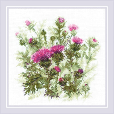 Riolis Thistle Cross Stitch Kit