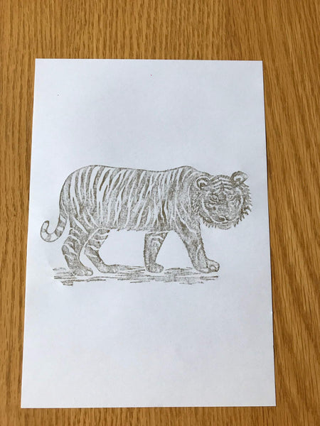 Brass Rubbing Kit Tiger