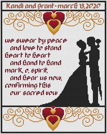 Artists Alley Together Cross Stitch Pattern