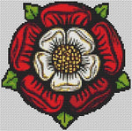 Artists Alley Tudor Rose Cross Stitch Pattern