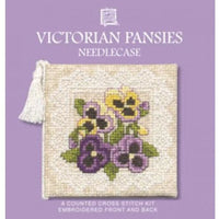Textile Heritage Victorian Pansies Needle Case Cross Stitch Kit