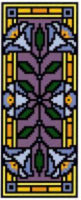 Landmark Tapestries & Charts Victorian Tile Miniatures Blue Poppy Cross Stitch Pattern