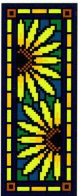Landmark Tapestries & Charts Victorian Tile Miniatures Corn Marigold Cross Stitch Pattern