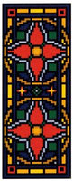 Landmark Tapestries & Charts Victorian Tile Miniatures Poinsettia Cross Stitch Pattern