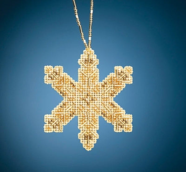 Mill Hill Victorian Snowflake Bead and Cross Stitch Kit