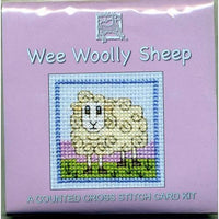 Textile Heritage Wee Wooly Sheep Miniature Card Cross Stitch Kit