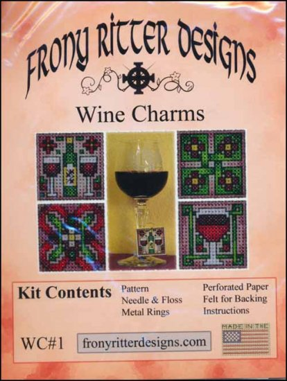 Frony Ritter Wine Charms Cross Stitch Kit