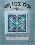 Frony Ritter Winter Series Aquamarine Snowflake Cross Stitch Pattern