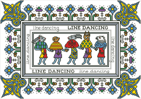 Arelate Studio Line Dancing Cross Stitch Pattern