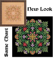 Ink Circles Bloomers Cross Stitch Pattern