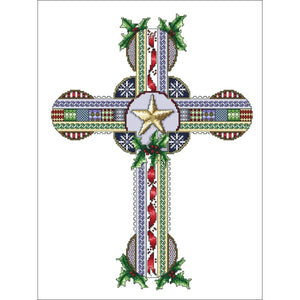 Vickery Collection Celtic Christmas Cross - Cross Stitch Pattern
