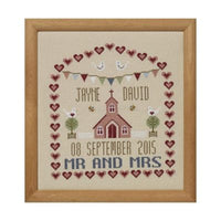 Chapel Wedding Sampler Cross Stitch Pattern
