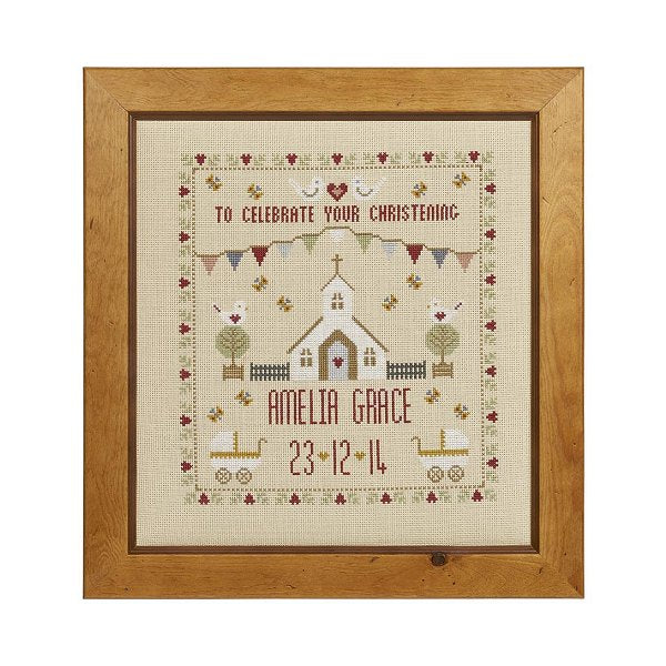 Christening Sampler Cross Stitch Pattern
