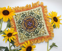 Ink Circles Helianthus Cross Stitch Pattern