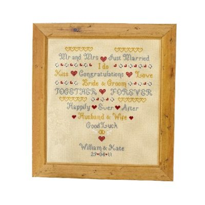 I Do Wedding Sampler Cross Stitch Pattern
