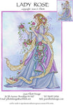 Joan Elliott Lady Rose Cross Stitch Pattern