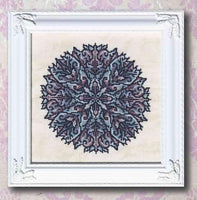 Ink Circles Dark Shards Cross Stitch Pattern