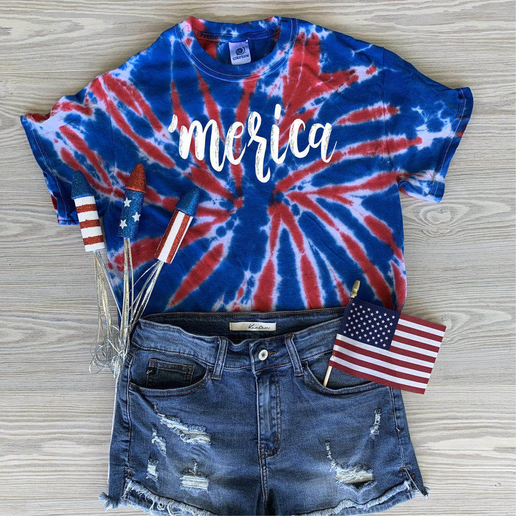Merica Tie Dye-The Purple Pineapple Co.