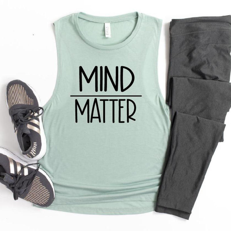 Mind Over Matter Tank-The Purple Pineapple Co.