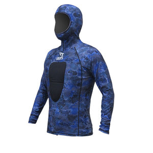 IST VSH100-10 Blue Camouflage Hooded Suits