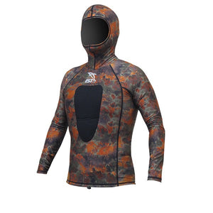 IST VSH100-10 Brown Camouflage Hooded Suits